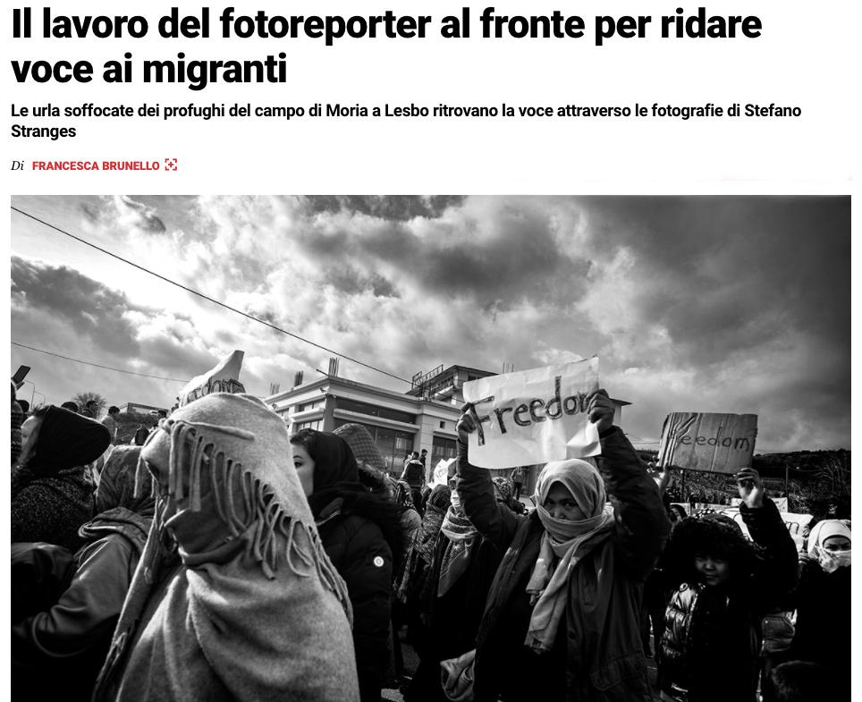 RollingStone.it - Interview Stefano Stranges - Il lavoro del fotoreporter al fronte per ridare voce ai migranti